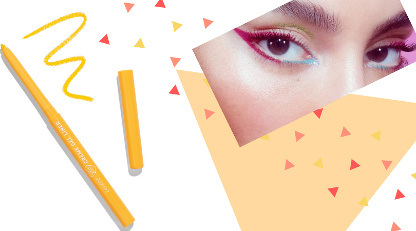 colorful eyeliner collage
